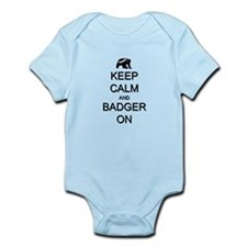 Keep Calm and Badger On Onesie