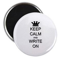 "Keep Calm and Write On 2.25"" Magnet (10 pack)"