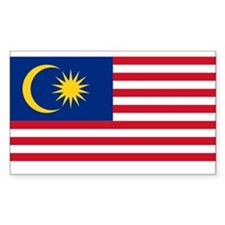Flag of Malaysia Rectangle Decal