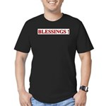 BLESSINGS Men's Fitted T-Shirt (dark)