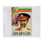 love JAH JAH Throw Blanket