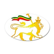 KING OF KINGZ LION 38.5 x 24.5 Oval Wall Peel
