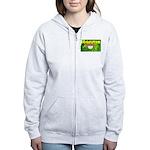 THE GREEN MONKEY BRING DAT B Women's Zip Hoodie