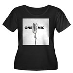 ONE MIC Women's Plus Size Scoop Neck Dark T-Shirt