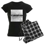 UNDERPAID Women's Dark Pajamas
