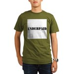 UNDERPAID Organic Men's T-Shirt (dark)
