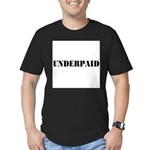UNDERPAID Men's Fitted T-Shirt (dark)