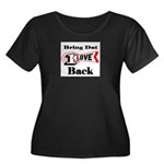 BRING DAT 1 LOVE BACK Women's Plus Size Scoop Neck