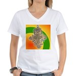 JAH LOVE Women's V-Neck T-Shirt