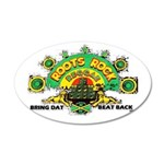 ROOTS ROCK REGGAE 38.5 x 24.5 Oval Wall Peel
