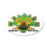 ROOTS ROCK REGGAE 22x14 Oval Wall Peel