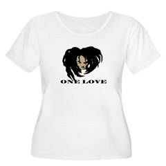 ONE LOVE Women's Plus Size Scoop Neck T-Shirt