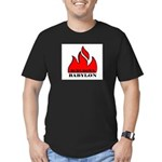 BURN BABYLON Men's Fitted T-Shirt (dark)