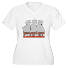 bdbb forever Women's Plus Size V-Neck T-Shirt