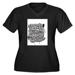 DIRTY SOUTH Women's Plus Size V-Neck Dark T-Shirt