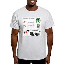 Lady Luck Kick @$$ Template T-Shirt