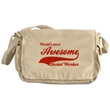 World's Most Awesome Social worker Messenger Bag
