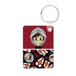 Cute Medieval Knight Photo Keychain