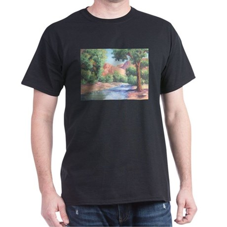 Summer Canyon Black T-Shirt