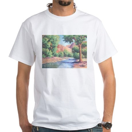 Summer Canyon White T-Shirt