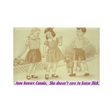 Jane Knows Connie Rectangle Magnet (10 pack)
