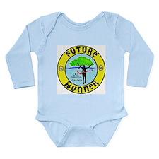Marathon Runner Long Sleeve Infant Bodysuit