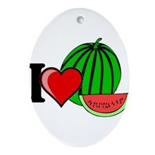 Watermelon Ornament (Oval)