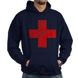 Vintage, Red Cross Hoody
