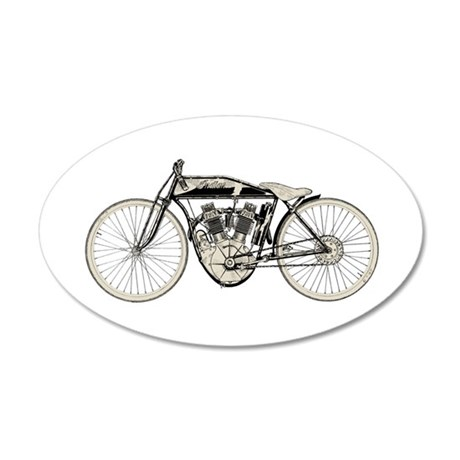 Indian Motorcycle 35x21 Oval Wall Decal