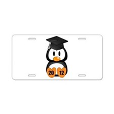Custom Gradution Penguin Aluminum License Plate