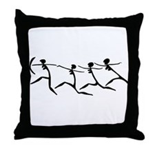 Running Women Throw Pillow