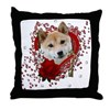 Valentines - Key to My Heart Shiba Inu Throw Pillo