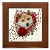 Valentines - Key to My Heart Shiba Inu Framed Tile