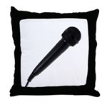 Audio Microphone Angle Throw Pillow