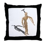 Carrying Gardening Hoe Throw Pillow