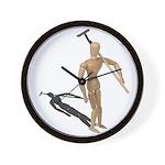 Carrying Gardening Hoe Wall Clock