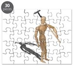 Carrying Gardening Hoe Puzzle