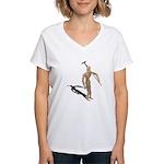 Carrying Gardening Hoe Women's V-Neck T-Shirt