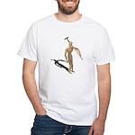 Carrying Gardening Hoe White T-Shirt