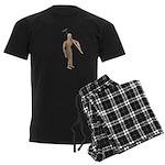 Carrying Gardening Hoe Men's Dark Pajamas