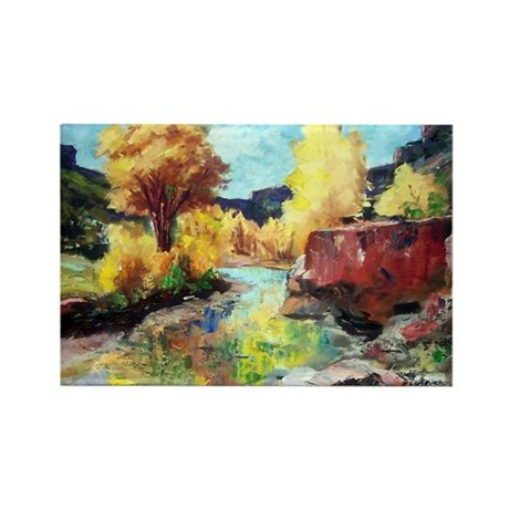 Autumn Canyon Rectangle Magnet (100 pack)