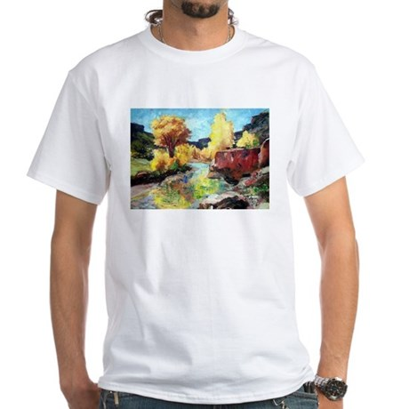 Autumn Canyon White T-Shirt