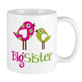 Polka Dot Birds Big Sister Mug
