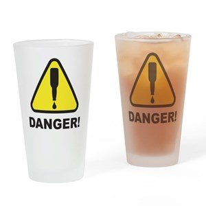 Danger, Beer Supply Low! Drinking Glass