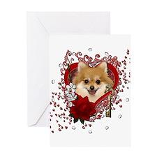 Valentines - Key to My Heart Pomeranian Greeting C