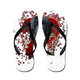 Valentines - Key to My Heart Newfie Flip Flops