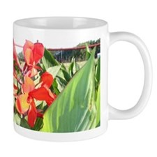 """Canna Lily Sun Bath"" Small Mug"