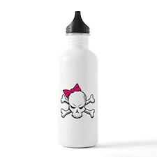 Girly Skull Water Bottle