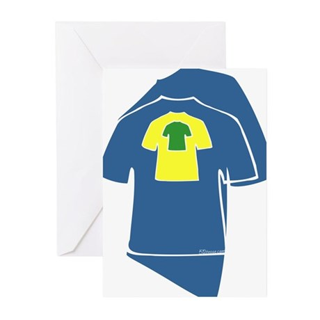 Bright T-shirts Greeting Cards (Pk of 10)