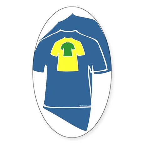 Graphic Colorful T-shirts Oval Sticker